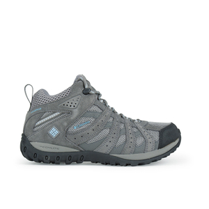 Columbia Women's Redmond Mid Waterproof Hiking Boots - Light Grey/Sky Blue