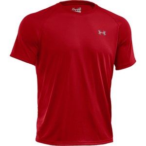 T-Shirt à manches courtes Tech Under Armour -Rouge/Blanc