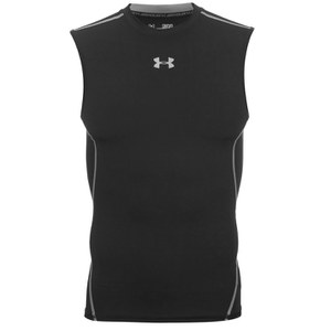 Under Armour Men's Armour HeatGear Sleeveless Training T-Shirt - Black/Steel