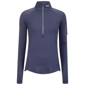 Under Armour Women's Fly Fast 1/2 Zip Running Top - Faded Ink/Reflective