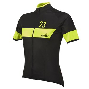 Nalini Pink Label Women's Nemina Short Sleeve Jersey - Black/Yellow