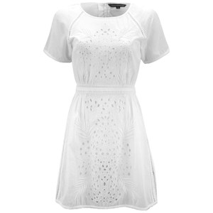 French Connection Women's Embroided Beach Midi Dress - Summer White