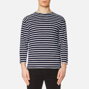 Armor Lux Men's Beg Meil 3/4 Sleeve T-Shirt - Navy/White