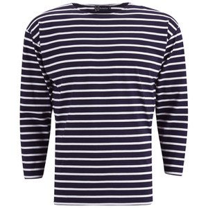 Armor Lux Men's Beg Meil 3/4 Sleeve T-Shirt - Navy/White