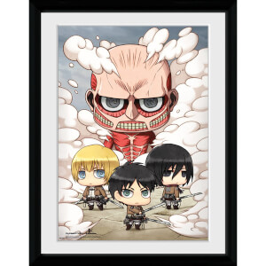 Attack on Titan Chibi Group - 16x12 Framed Photographic