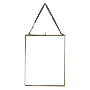 Nkuku Kiko Glass Frame - Antique Brass - Portrait 8
