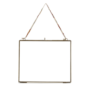 "Nkuku Kiko Glass Frame -  Antique Brass - Landscape 8"" x 10"" (20 x 25cm)"