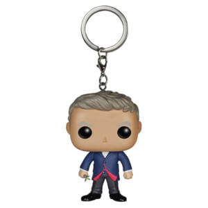 Doctor Who 12th Doctor Pocket Figurine Porte-clés Pocket Pop!