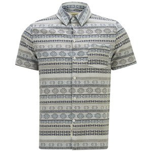 Native Youth Men's Tapestry Jaquard Shirt - Blue