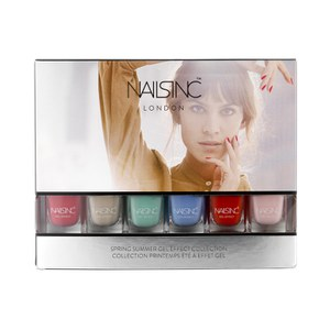 nails inc. Spring Summer Mini Gel Effect Nail Varnish Collection (6 x 4.5ml)