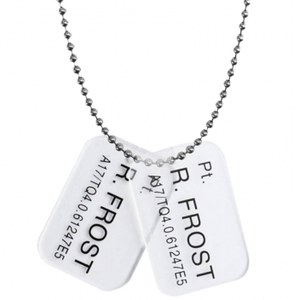 Dog Tags Marine Pt. R. Frost -Aliens: Colonial Marines