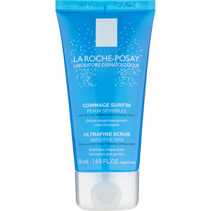 La Roche-Posay Ultra-Fine Scrub Exfoliating Facial Cleanser, Suitable for Sensitive Skin, 1.69 Fl. Oz.