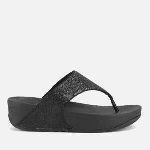 FitFlop Women's Lulu Superglitz Flip Flop Sandals - Black