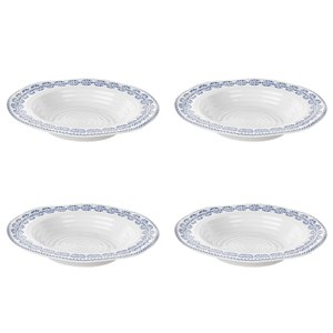 Sophie Conran for Portmeirion Rimmed Soup Plate - Florence - White (Set of 4)