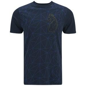 Luke 1977 Men's Geometric Splion Printed Crew Neck T-Shirt - Navy
