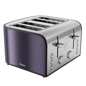 Swan ST17010PLUN 4 Slice Toaster - Plum