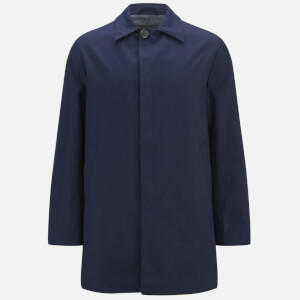 Knutsford Men's 'Made in England' Single-Breasted Raincoat - Navy