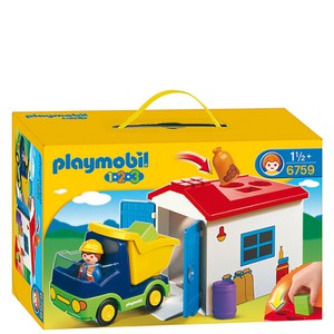 Playmobil 1.2.3 Truck with Garage (6759)