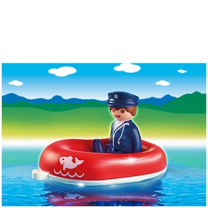 Playmobil 1.2.3 Man with Water Raft (6795)