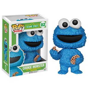 Figurine Pop! Vinyl Sesame Street Cookie Monster (Macaron le Glouton)