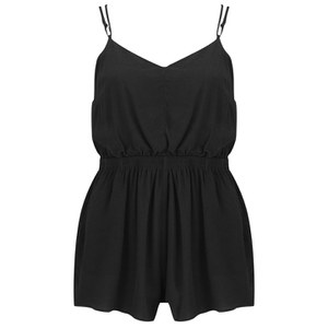 MINKPINK Women's Summer Vacay Playsuit - Black