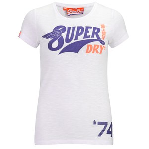 Superdry Women's S-Wing Entry T-Shirt - Optic