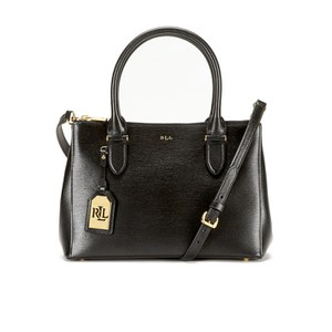 Lauren Ralph Lauren Women's Newbury Double Zipper Shopper Bag - Black