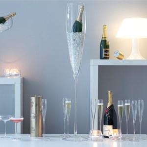 LSA Wine Champagne Flutes - 200ml (Set of 4): Image 2
