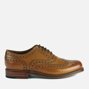 Grenson Men's Stanley Leather Brogues - Tan Calf