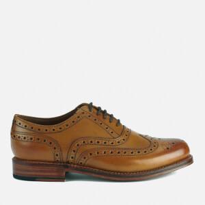Grenson Men's Stanley Leather Brogues - Tan Calf