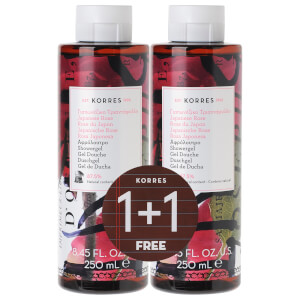 KORRES Limited Edition 1 + 1 Japanese Rose Shower Gel 250ML (£ 16.00 상당)