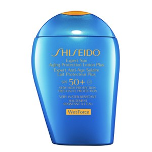 Loción protectora Expert Sun Aging Protection Plus SPF50+ Wet Force de Shiseido (100 ml)