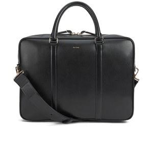 Paul Smith Accessories Men's City Embossed Medium Folio Laptop Bag - Black