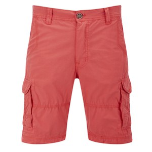 Threadbare Men's Fargo Cargo Shorts - Bright Coral