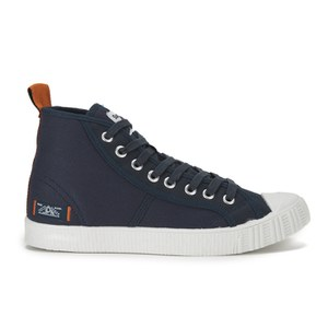 Superdry Men's Super Sneaker High Top Trainers - Eclipse Navy/Off White