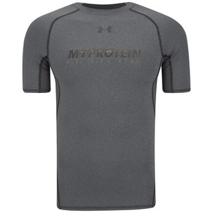 Under Armour® Miesten Heatgear Armour Lyhythihainen Compression T-Paita - Carbon Heather