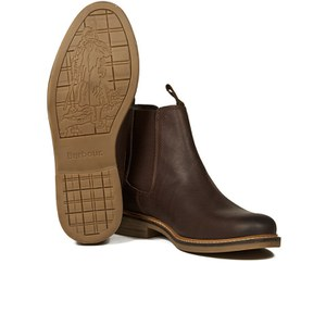 Barbour Men's Farsley Leather Chelsea Boots - Brown: Image 6