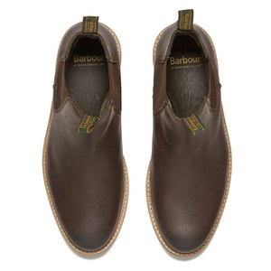Barbour Men's Farsley Leather Chelsea Boots - Brown: Image 2