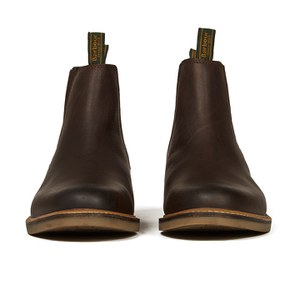 Barbour Men's Farsley Leather Chelsea Boots - Brown: Image 4