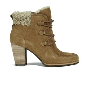 UGG Women's Analise Lace up Heeled Ankle Boots - Chestnut