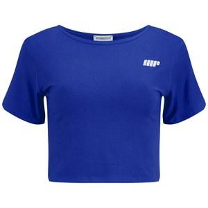 Myprotein Damen bauchfreies T-Shirt, Blau