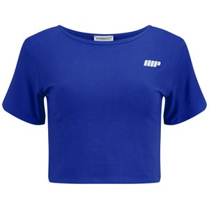 Myprotein Cropped T-Shirt, Kvinnor - Blå