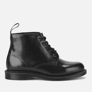 Dr. Martens Women's Emmeline Polished Smooth Leather 5-Eye Boots - Black