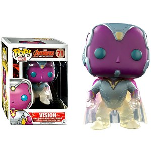 Marvel Avengers Age of Ultron Faded Vision Pop! Vinyl Bobble Head Figure
