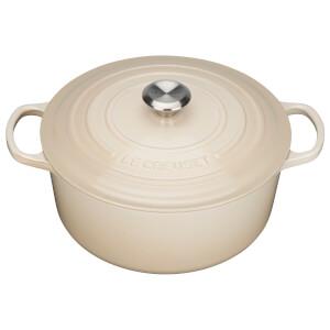 Le Creuset Signature Cast Iron Round Casserole Dish - 24cm - Almond