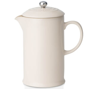 Le Creuset Stoneware Cafetiere Coffee Press - Almond