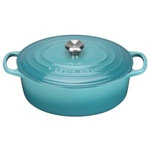 Le Creuset Signature Cast Iron Oval Casserole Dish - 27cm - Teal