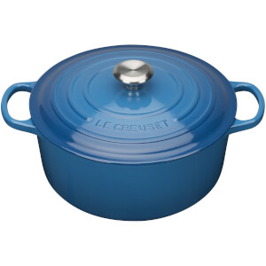 Le Creuset Signature Cast Iron Round Casserole Dish 20cm - Marseille Blue