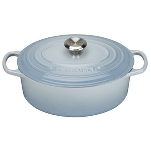 Le Creuset Signature Cast Iron Oval Casserole Dish - Coastal Blue
