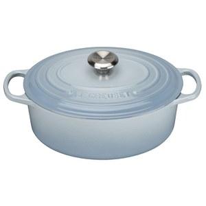 Le Creuset Signature Cast Iron Oval Casserole Dish - 29cm - Coastal Blue